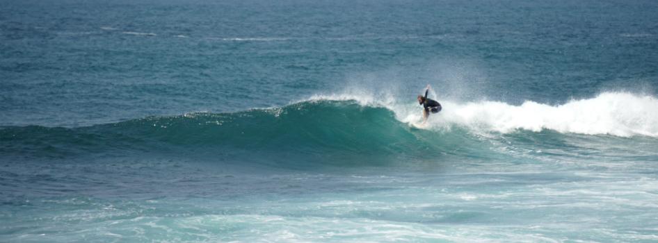 surfing in Pacitan