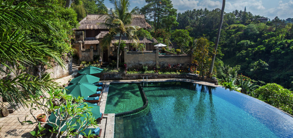 7 resorts in ubud with amazing infinity pools for Design boutique hotel ubud