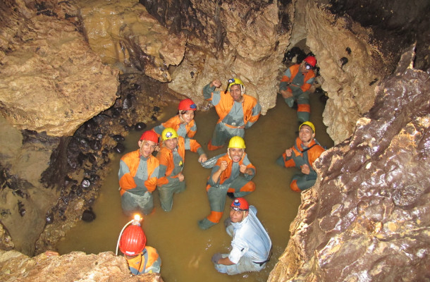 caving activities in indonesia