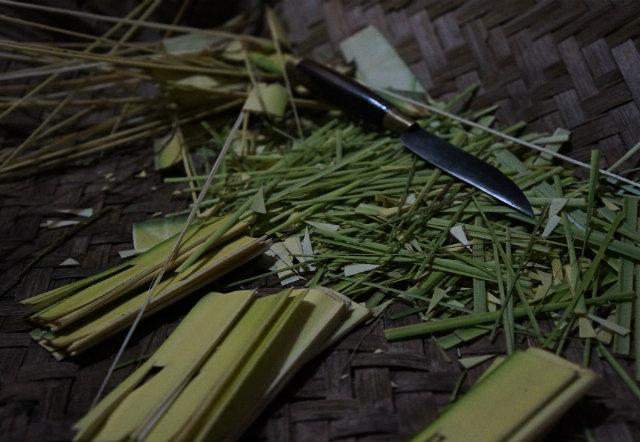 bali banten making