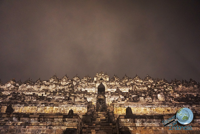 Borobudur temple midnight