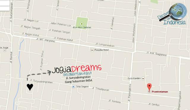 Map location JogjaDreams