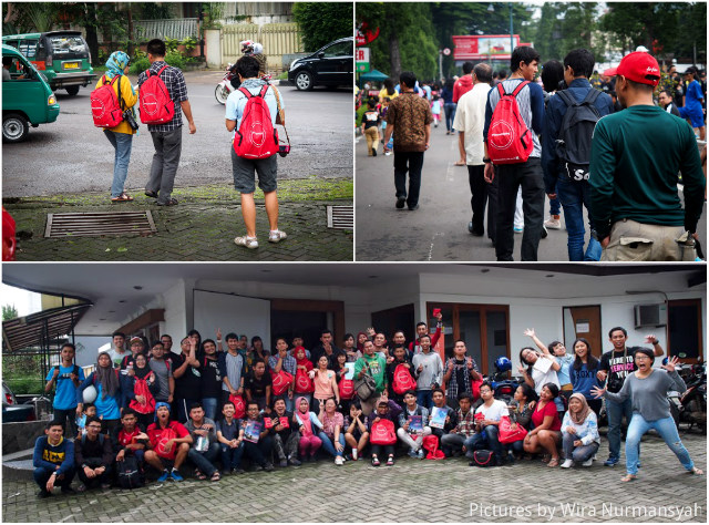 red backpackers