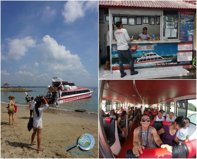rocky fast cruise to Lembongan