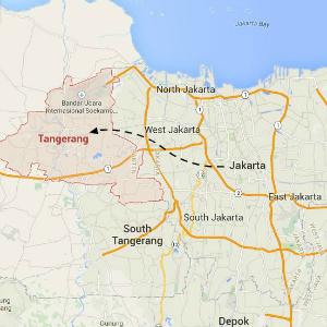 map Tangerang