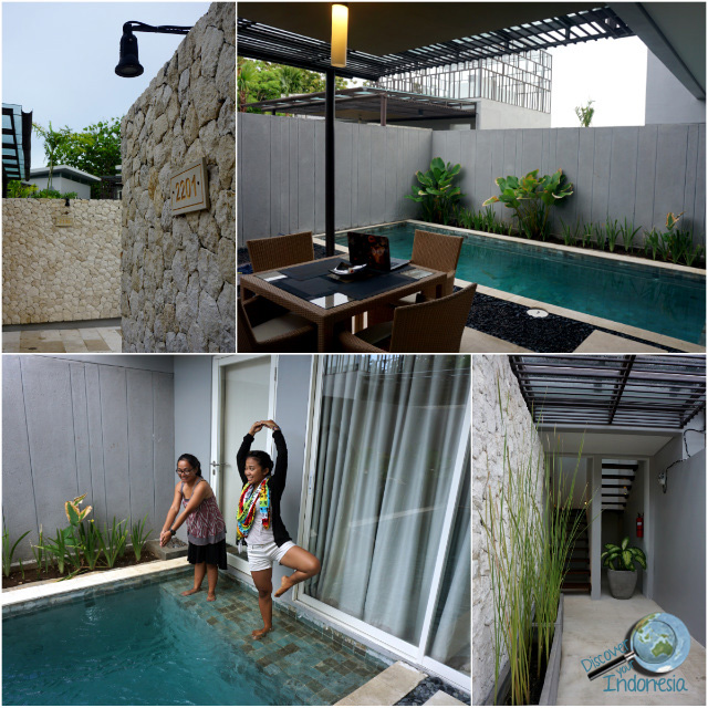 villa entrance and pool area tjendana villas