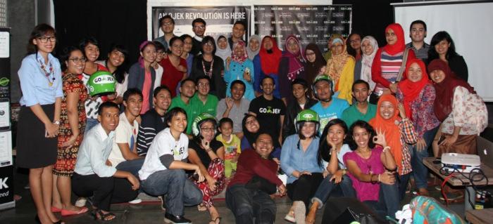 Bloggers gathering with Gojek Jakarta transportation
