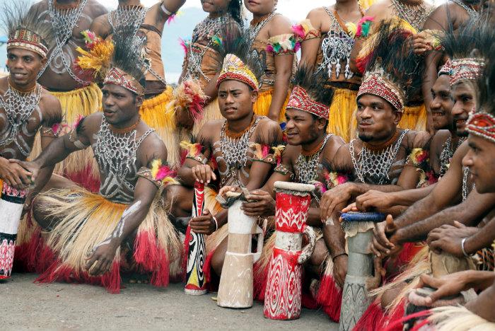 Lake sentani festival dancers