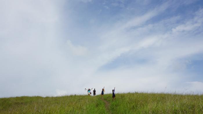 view near telaga hati