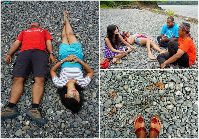 Tablanusu beach with stones