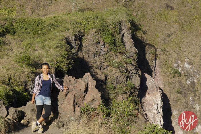 Firsta climbs Mount Batur