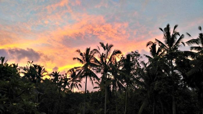 Sunset from the Villa Ubud