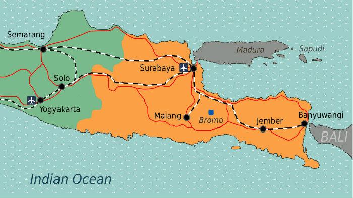 Yogyakarta to Bromo, Yogyakarta to Surabaya, Yogyakarta to Malang