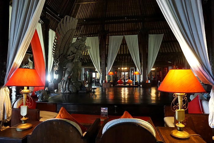 Wantilan and lobby area of Tugu Bali