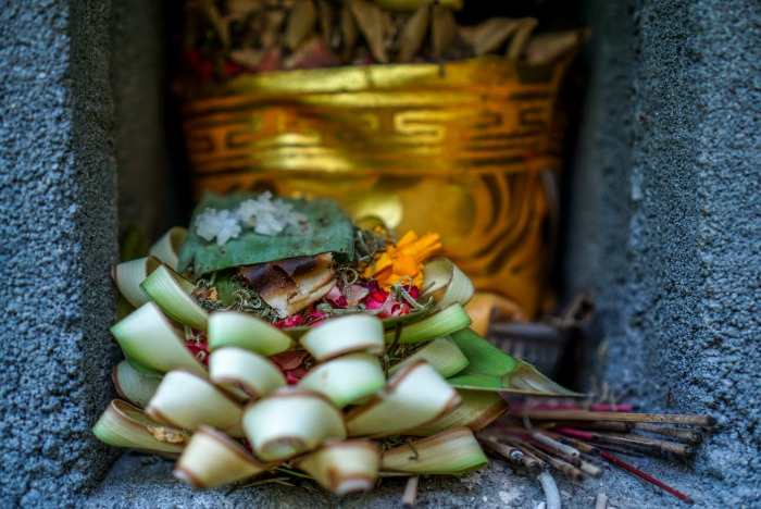Offering in Bali Karangasem