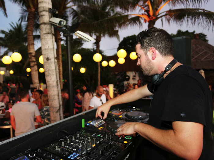 DJ at the Woo Bar in Bali. Photo from the Woo Bar FB page.