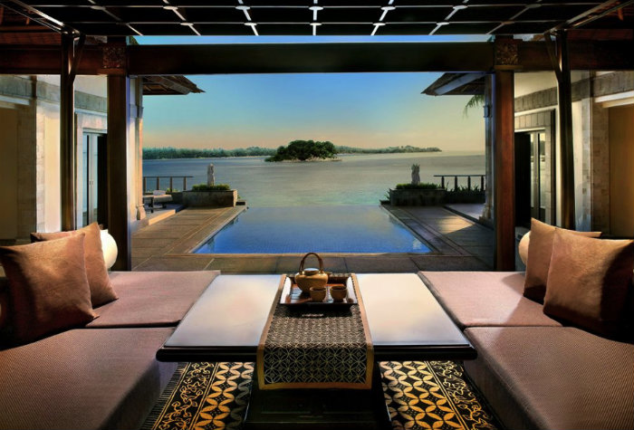 Bayan Tree Resort on Bintan Island.